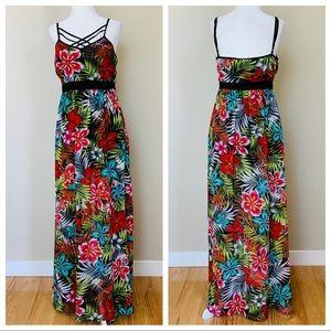 Romeo & Juliette Maxi Strappy Floral Print DRESS